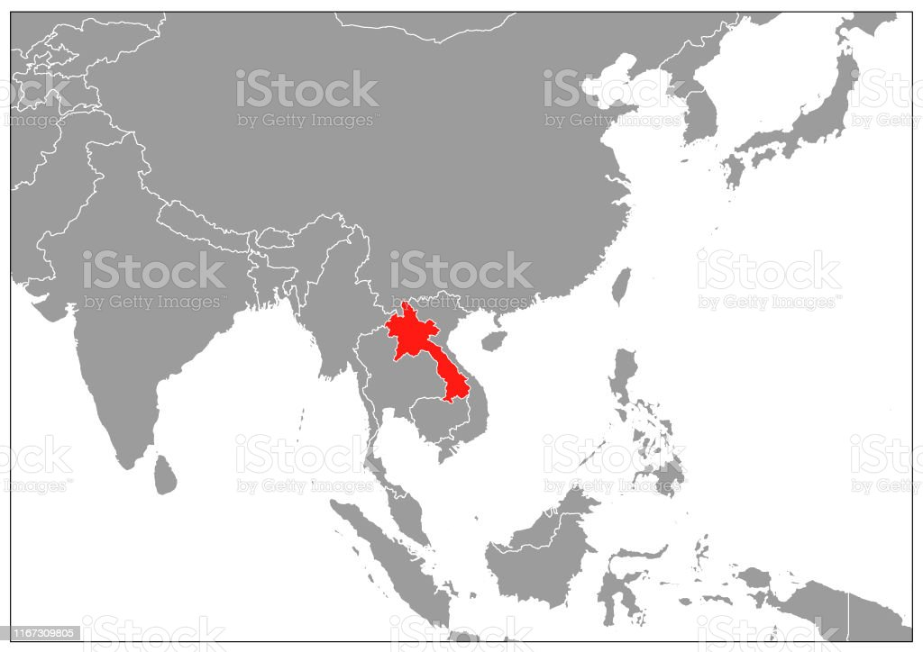 Picture of: Laos Map On Gray Base Stock Illustration Download Image Now Istock