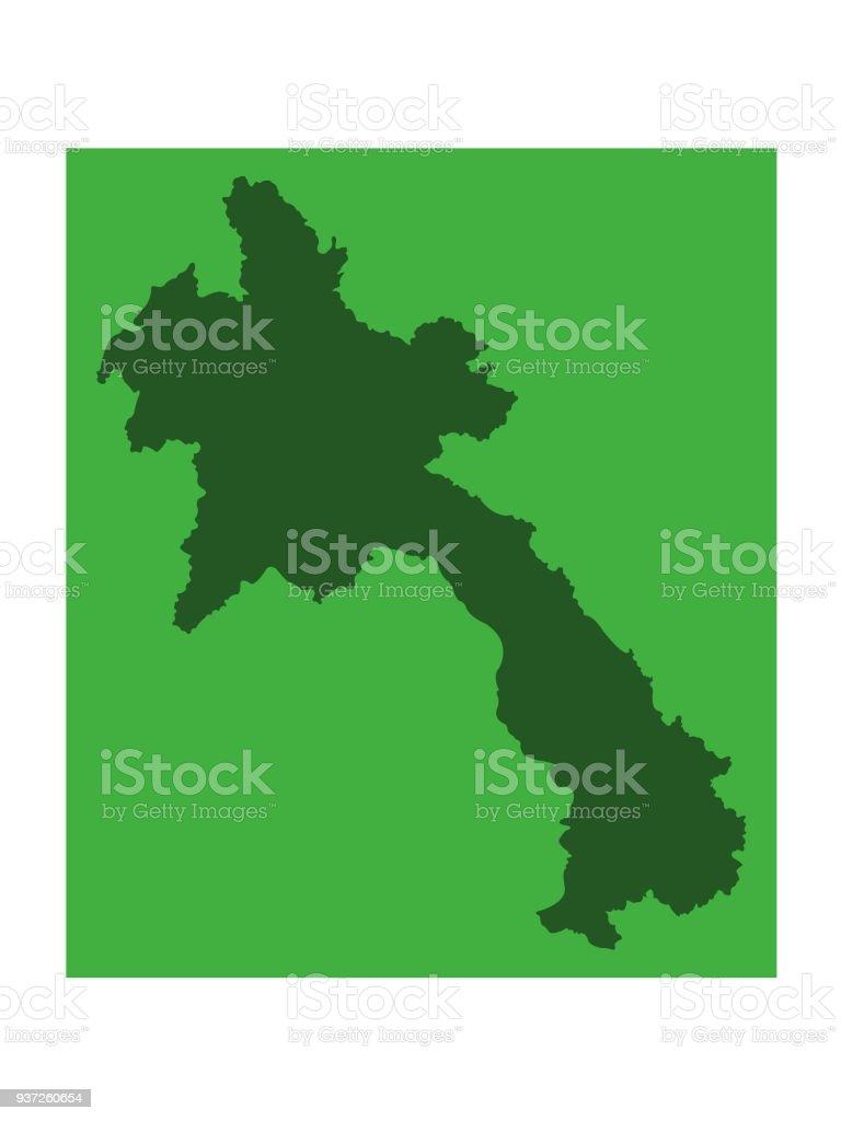 Laos Karte.Laos Karte Stock Vektor Art Und Mehr Bilder Von Asien Istock