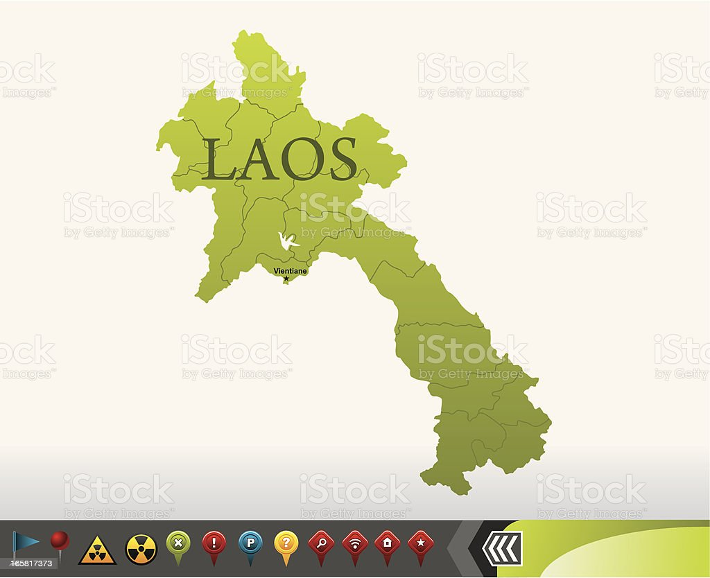 Laos map with navigation icons royalty-free laos map with navigation icons stock vector art & more images of afghanistan