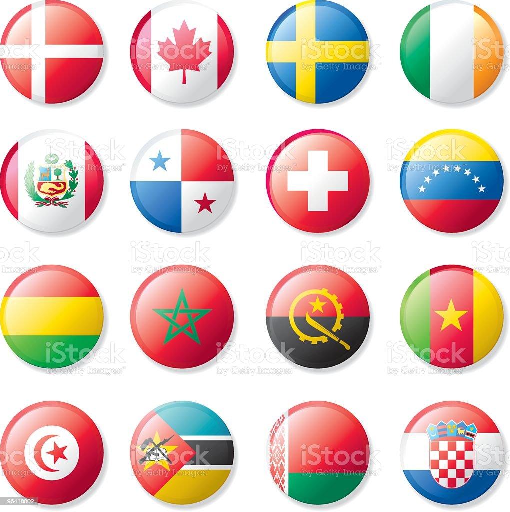 Conjunto de bandera de la solapa - ilustración de arte vectorial