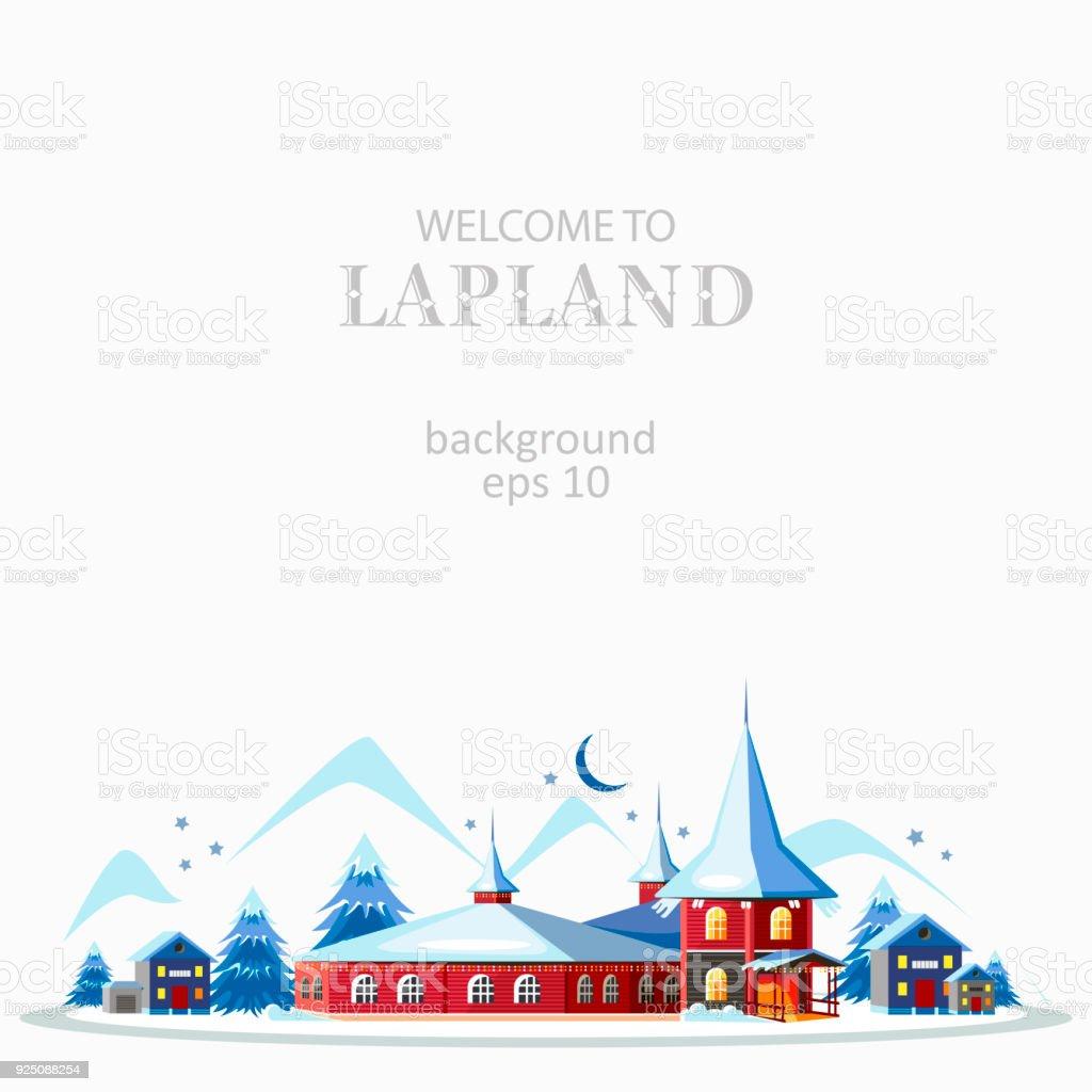 Lappland panorama bakgrund - Royaltyfri Affisch vektorgrafik