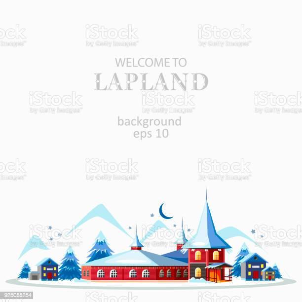 Lappland Panorama Bakgrund-vektorgrafik och fler bilder på Affisch