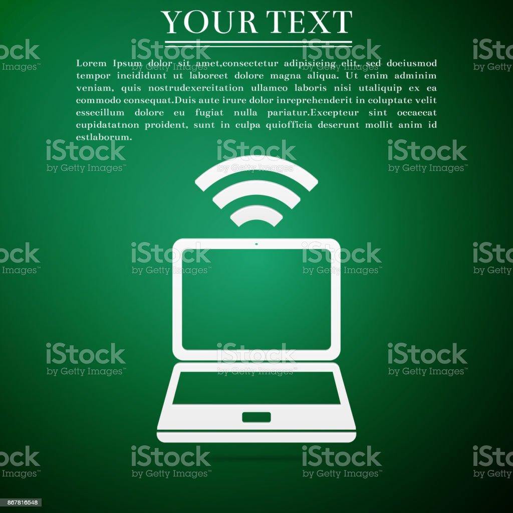 Laptop Und Wirelesssymbol Wirelesstechnologie Wifianschluss ...
