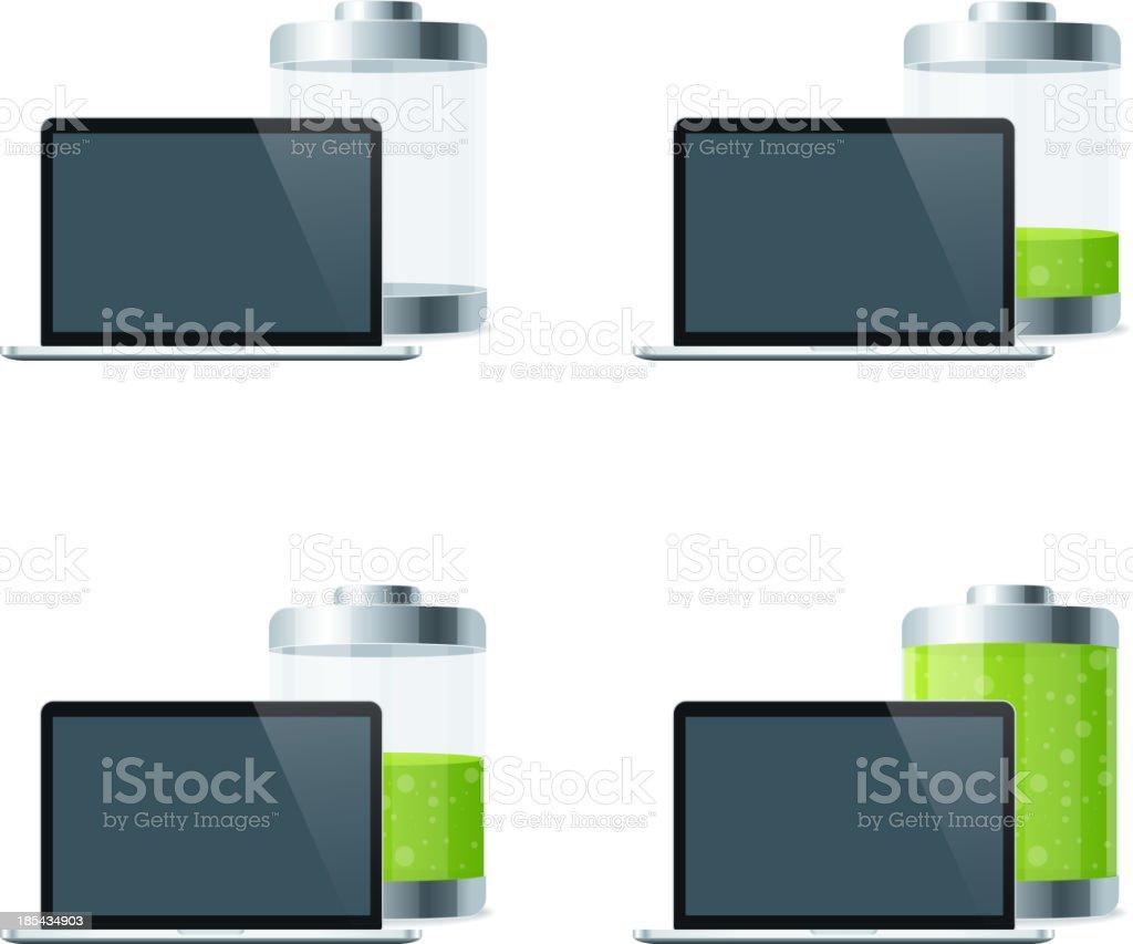 Laptop Battery royalty-free stock vector art