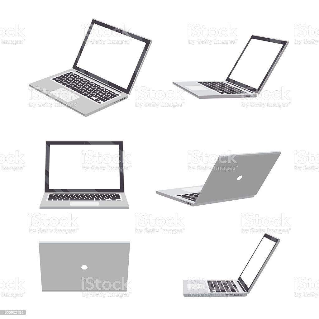 ノートパソコンの 3 D の空白 ベクターアートイラスト