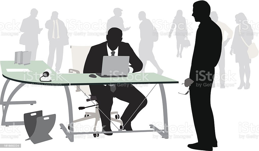 Laptop Businessman royalty-free stock vector art