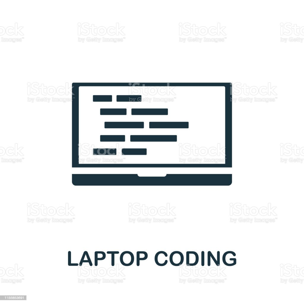 Laptop Coding icon. Creative element design from programmer icons...
