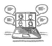 istock Laptop Computer Digital Meeting Drawing 1269047529