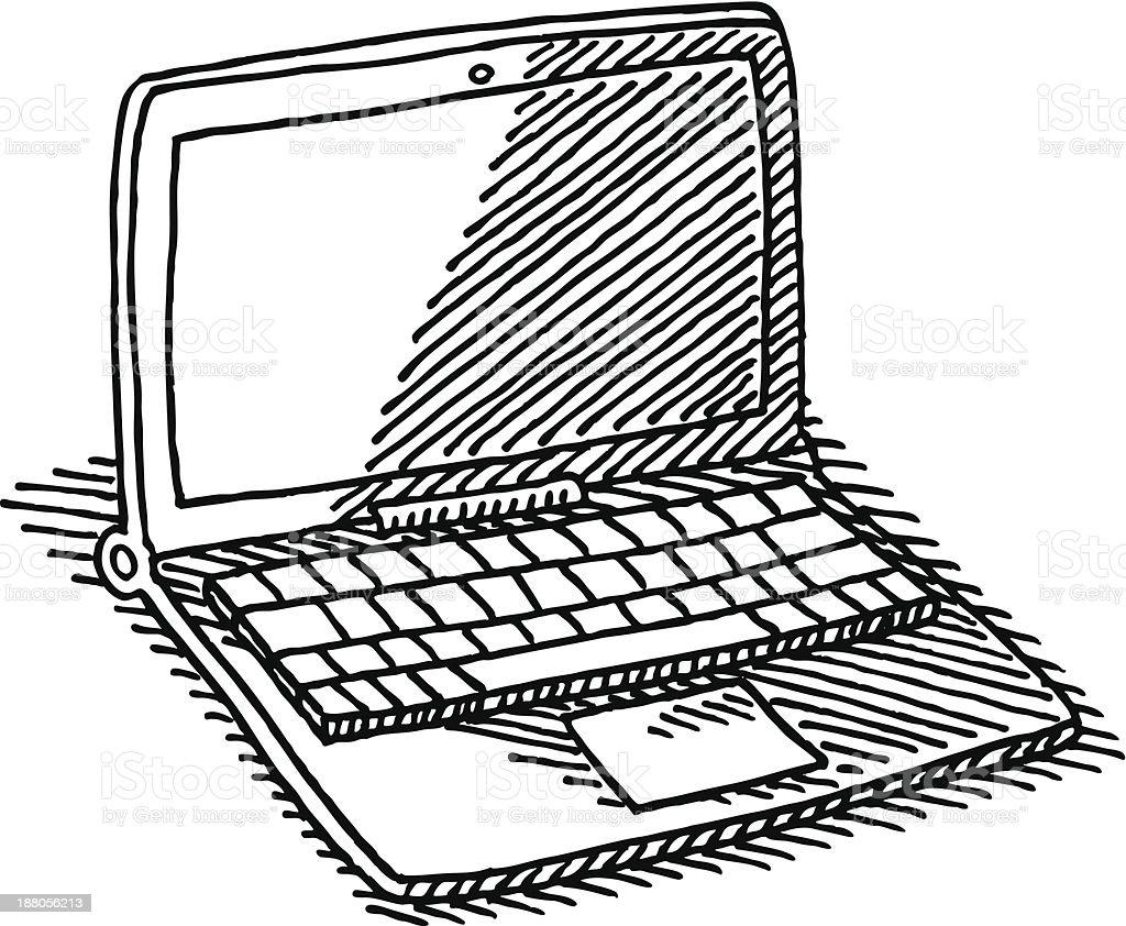 computadora port u00e1til dibujo illustracion libre de derechos