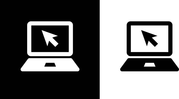 Laptop Computer Icon vector art illustration