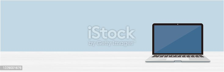 istock laptop computer on a background 1229001676