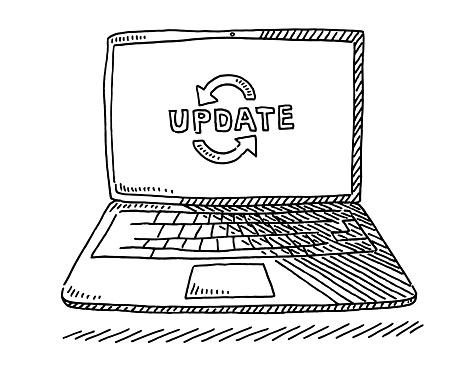 Laptop Computer Software Upgrade Drawing