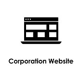 laptop, corporation website icon. Element of business icon for mobile concept and web apps. Detailed laptop, corporation website icon can be used for web and mobile on white background
