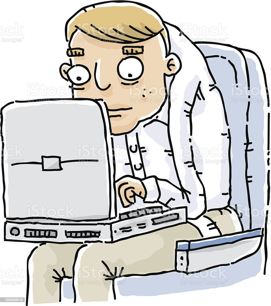 Laptop Crunch vector art illustration