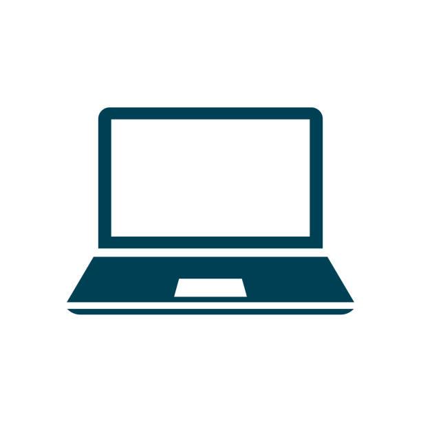 ilustrações, clipart, desenhos animados e ícones de ícone do dispositivo portátil, aparelhos de escritório - vetor das ações - laptop