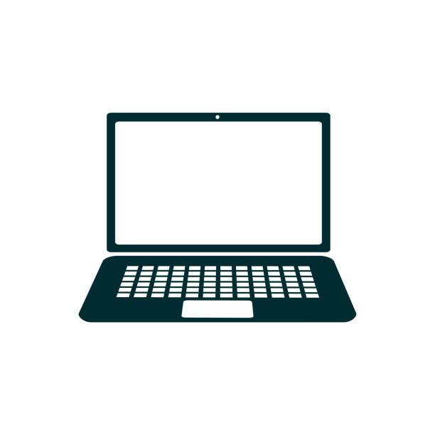 ilustrações, clipart, desenhos animados e ícones de ícone de dispositivo portátil, aparelhos de escritório - vector - laptop