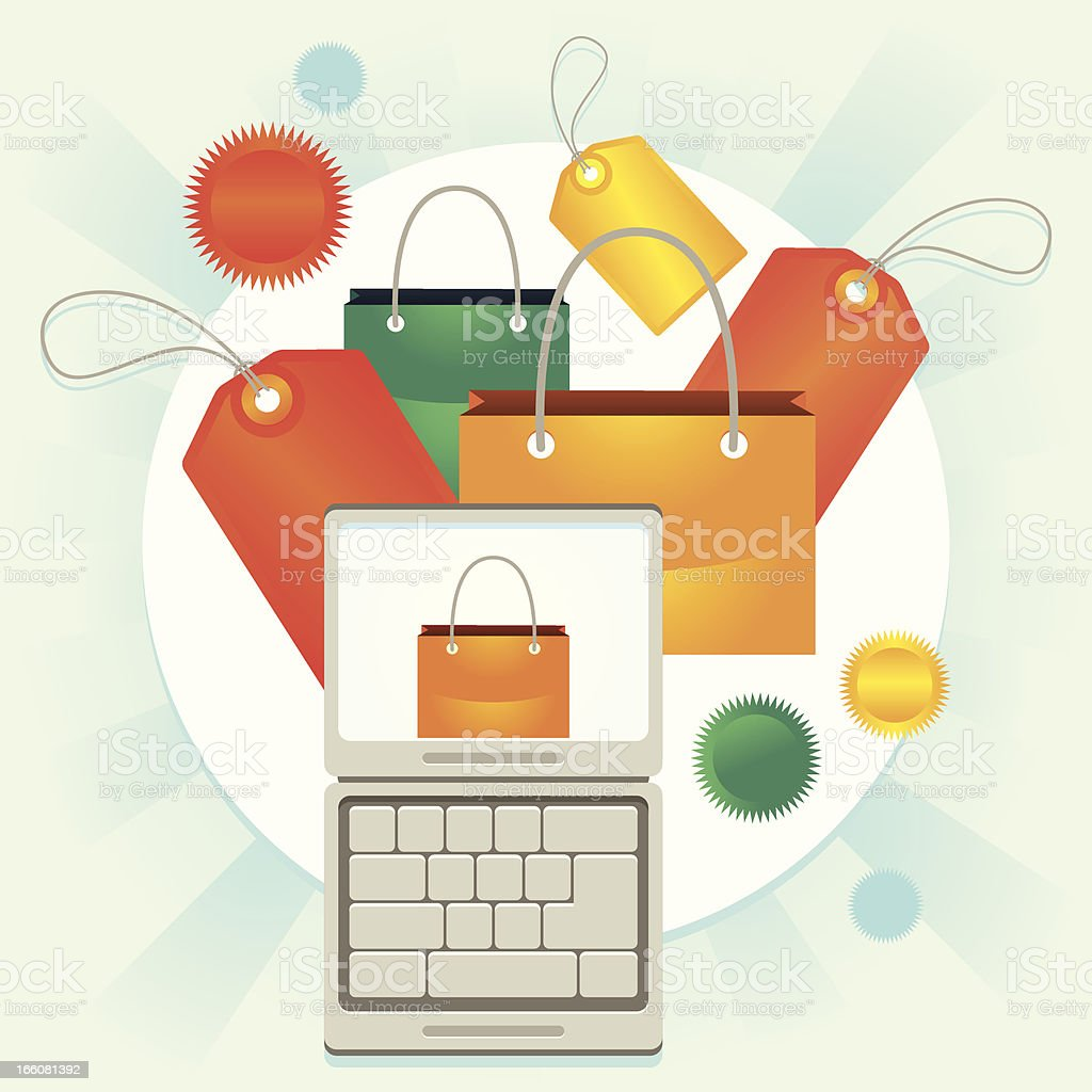 Laptop discount royalty-free laptop discount stock vector art & more images of award
