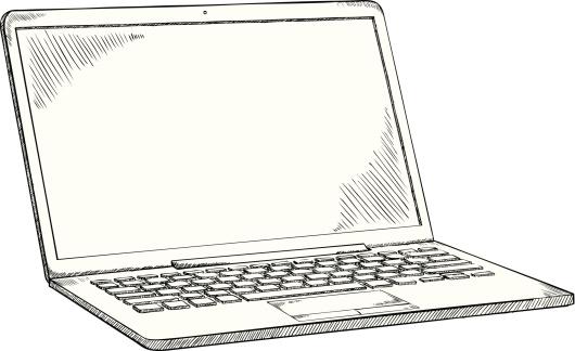 laptop doodle