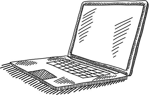 Laptop Drawing