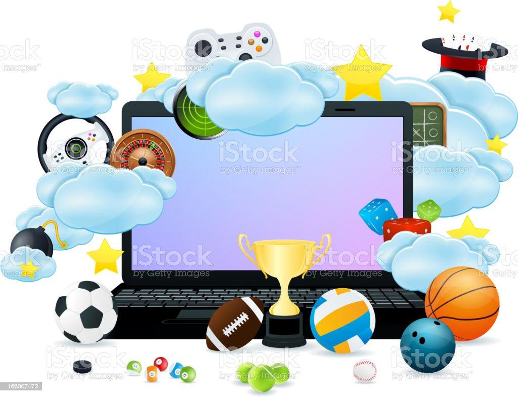 Laptop Gaming royalty-free stock vector art