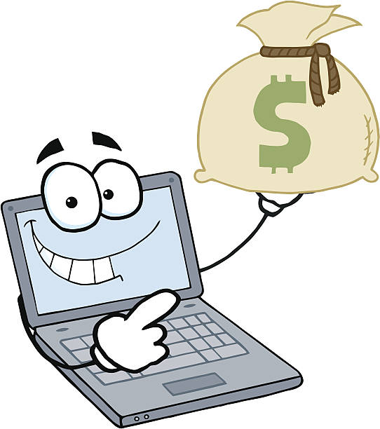 Clipart Rich Yellow Smiley Holding His Cash - Royalty Free ... |Smiley Face Holding Money