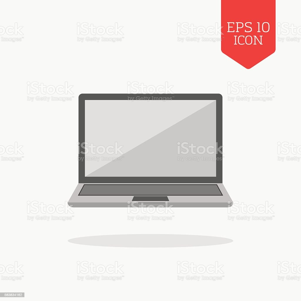 Laptop icon flat design gray color symbol stock vector art more flat design gray color symbol royalty free laptop icon flat design biocorpaavc