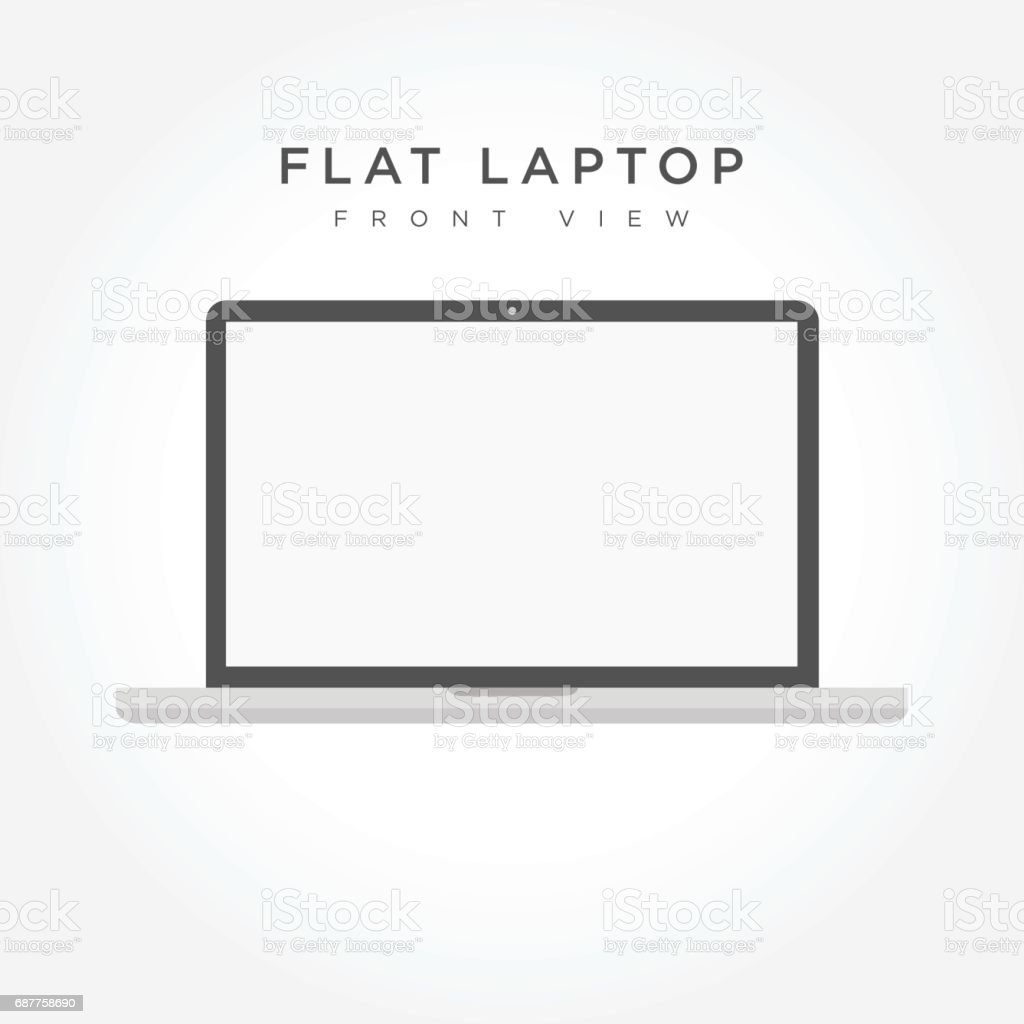 Laptop icon simple design vector art illustration