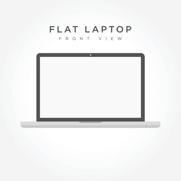 Laptop icon simple design vector art illustration