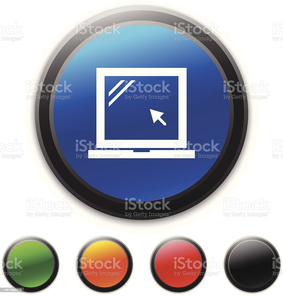 Laptop icon royalty-free laptop icon stock vector art & more images of black color
