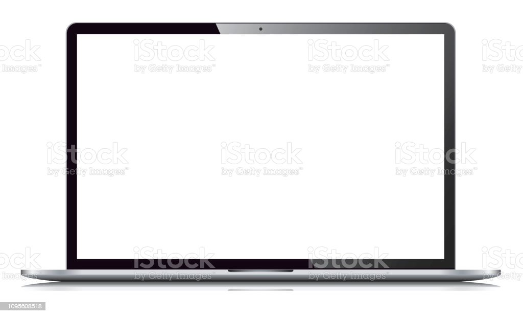 Laptop Isolated on White Background Vector Illustration of a Laptop Isolated on White Background Communication stock vector
