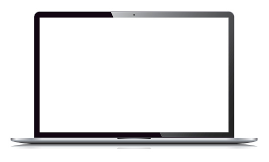 Laptop Isolated on White Background clipart