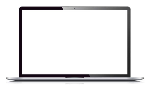 ilustrações, clipart, desenhos animados e ícones de portátil, isolado no fundo branco - laptop