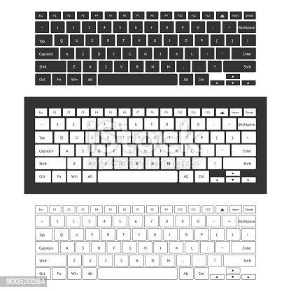 istock Laptop keyboard set 900520264