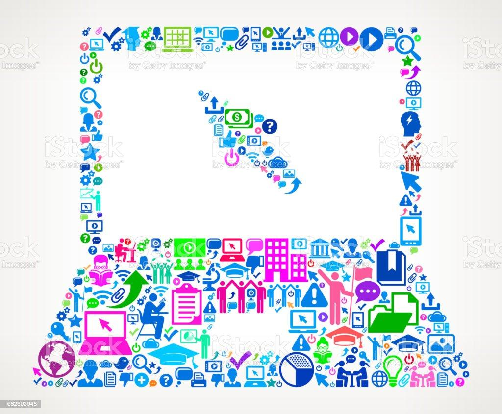 Laptop Modern Education and College Degree Icon Pattern laptop modern education and college degree icon pattern - stockowe grafiki wektorowe i więcej obrazów 20-24 lata royalty-free