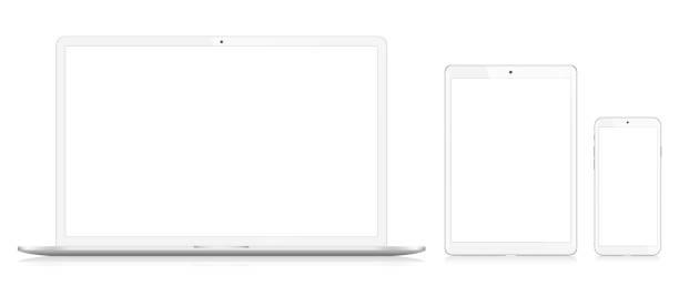 stockillustraties, clipart, cartoons en iconen met laptop, smartphone en digitale tablet - draagbaarheid