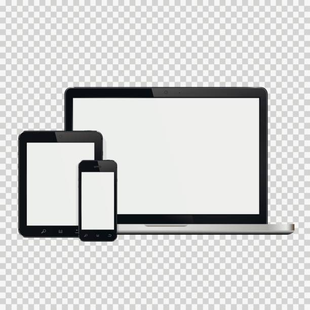 Ordinateur portable, smartphone et tablette maquette - Illustration vectorielle