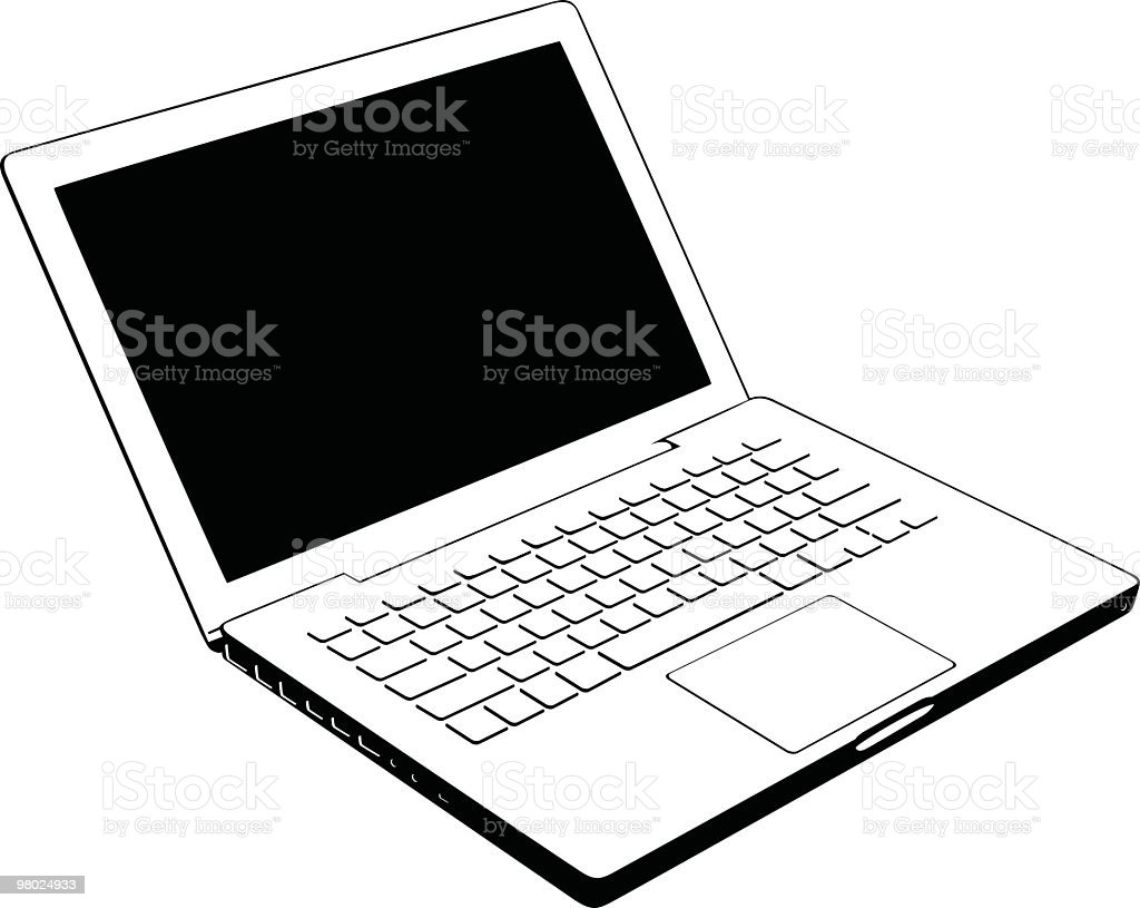 Laptop to use in your design royalty-free laptop to use in your design stock vector art & more images of black and white
