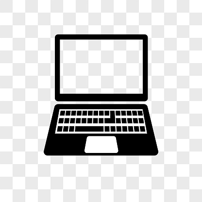 Laptop Vector Icon On Transparent Background Laptop Icon