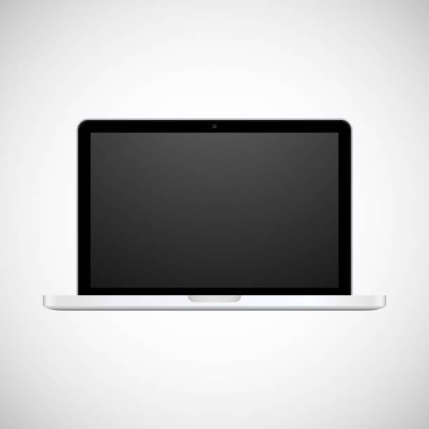stockillustraties, clipart, cartoons en iconen met laptop - stroom activiteit