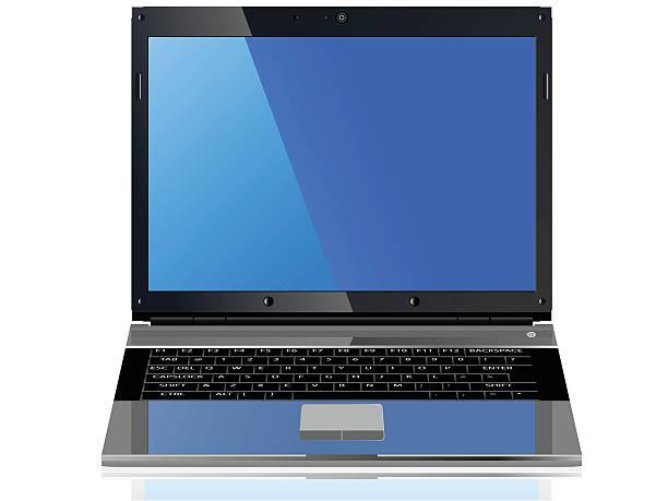 laptop - mauspad stock-grafiken, -clipart, -cartoons und -symbole