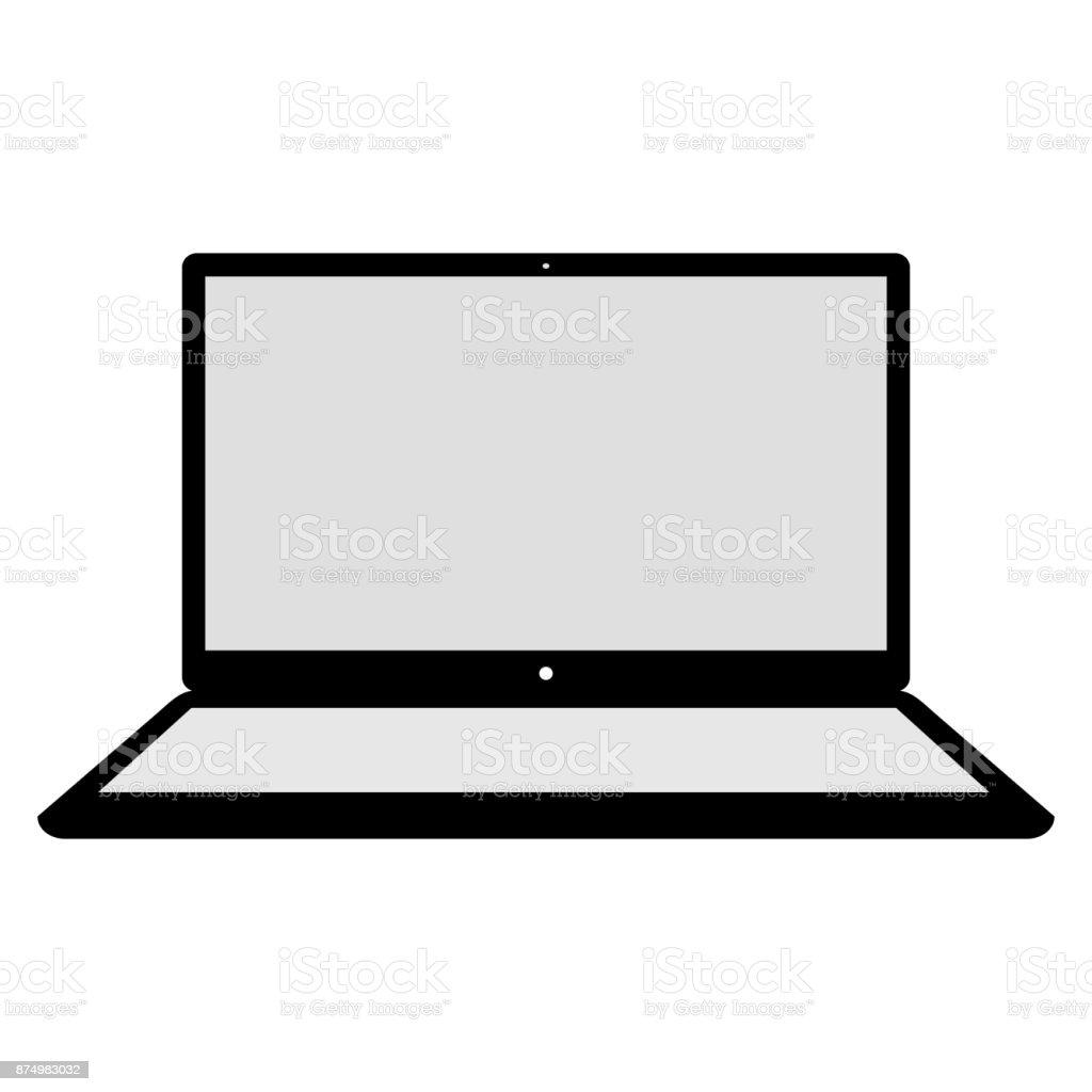 Laptop Vector Illustration vector art illustration