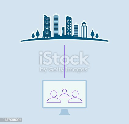 istock laptop with city on screen 1157098024