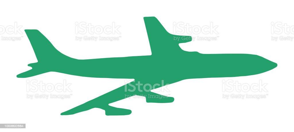 Large Airplane vector art illustration