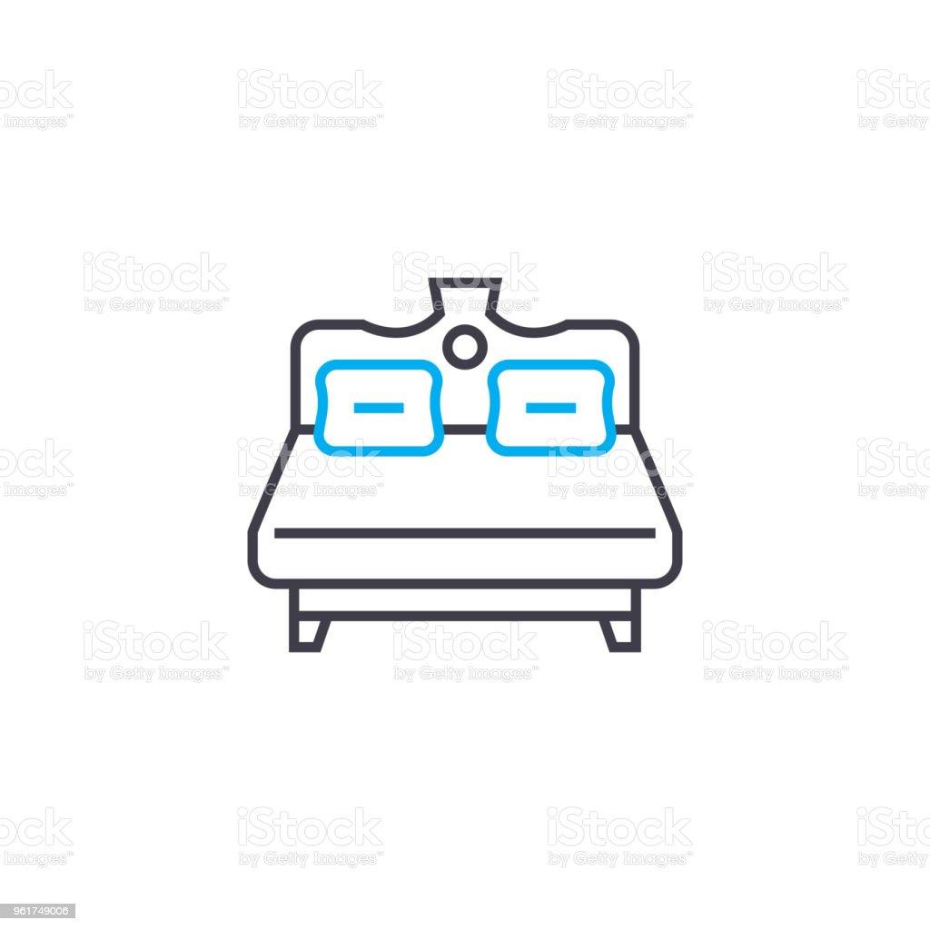 Inspirierend Bett Größe Das Beste Von Große Lineare Symbol Bettenkonzept. Großes Linie Vektor