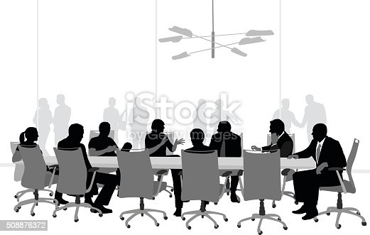 Large Boardroom Business Meeting Stock Vector Art & More ...