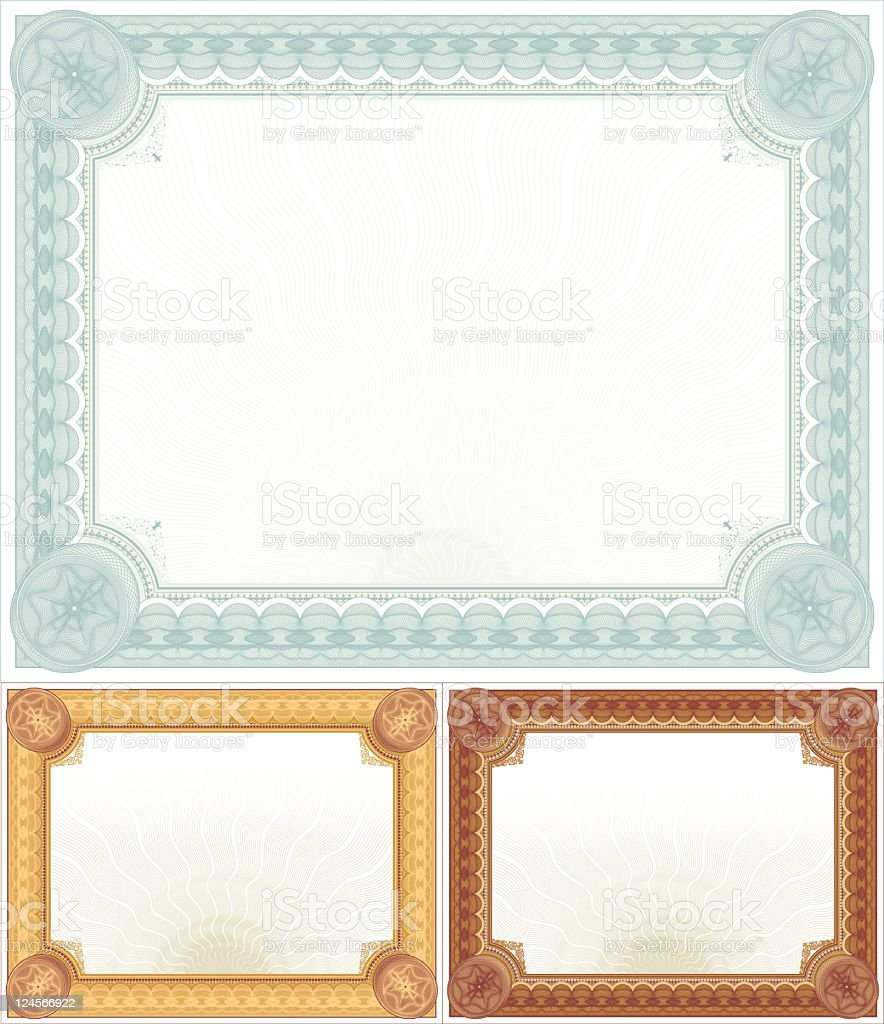 Large Certificate - Diploma Set vector art illustration