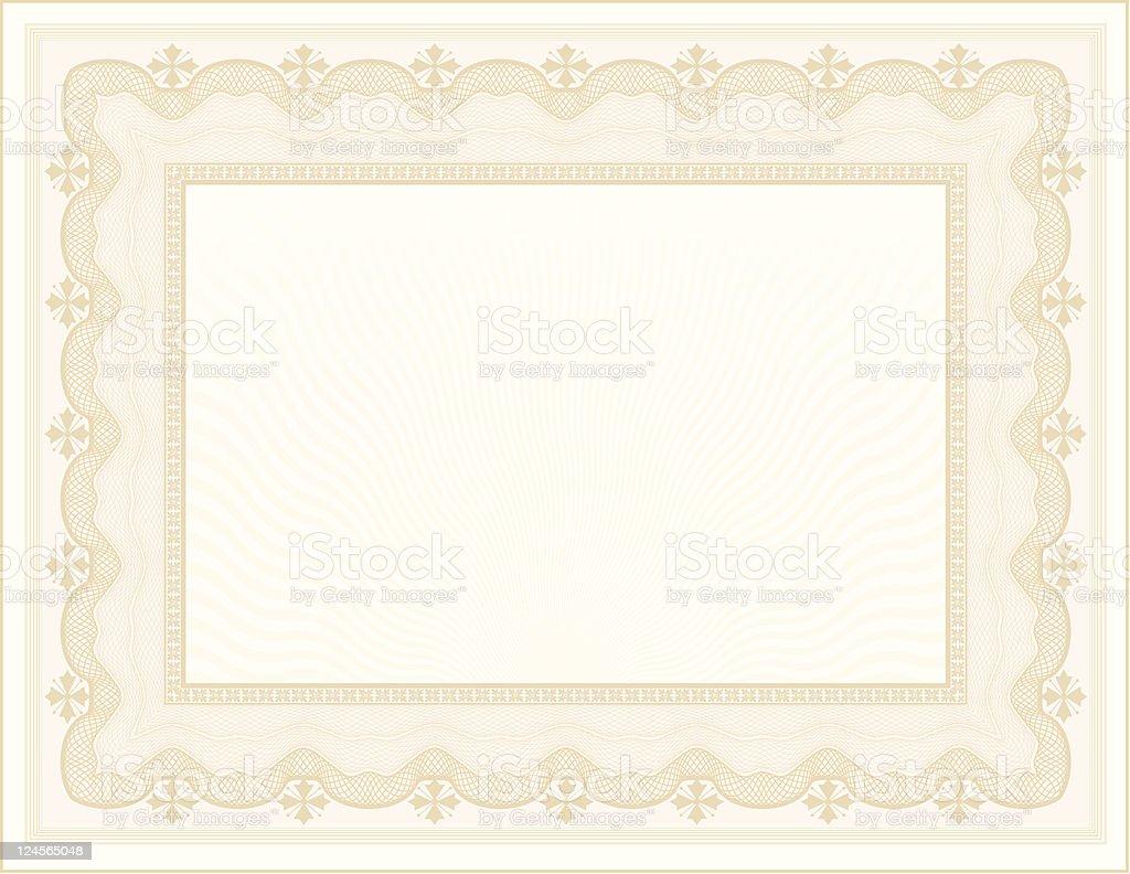 Large Certificate - Diploma royalty-free stock vector art