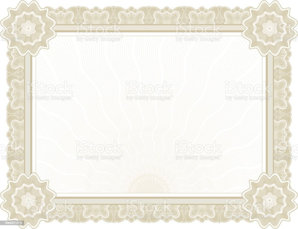 Large Certificate - Diploma (TAN VARIANT) vector art illustration