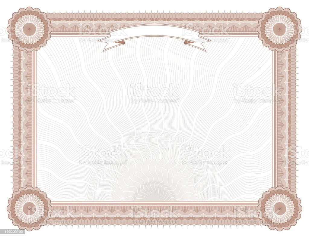 Large Certificate - Diploma (RUST VARIANT) royalty-free large certificate diploma stock vector art & more images of award