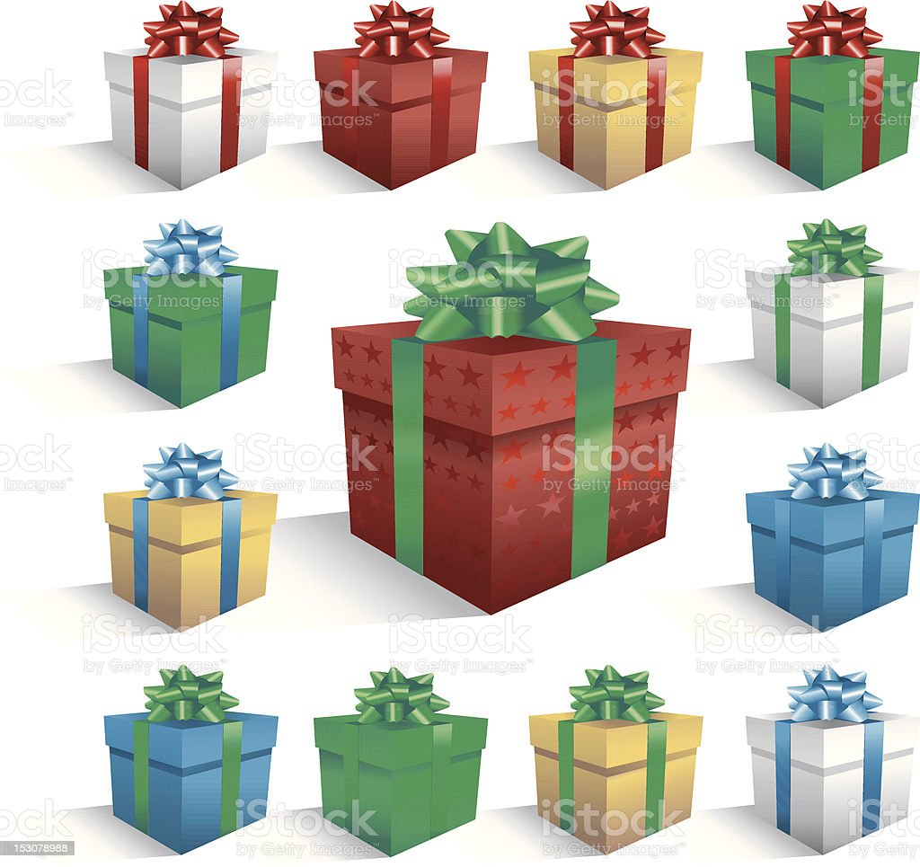 Large Christmas Gift With Smaller Box Border Royalty Free